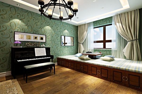 多功能的房间,钢琴室,书房,客房.榻榻米占据着重要的地位.